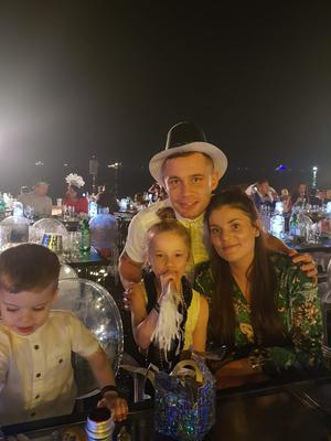 The couple with their children Carla and Rossa
