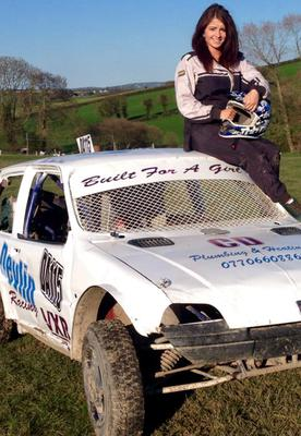 Girl power: Maeve Devlin takes part in National Autograss