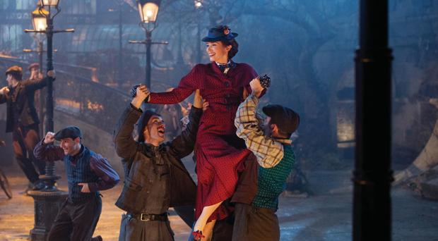 High-flyer: Emily Blunt in Mary Poppins Returns