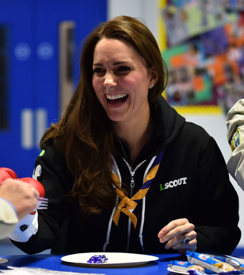 New style: the Duchess of Cambridge wearing a hoodie