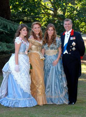 Prince Andrew and Sarah Ferguson with daughters Eugenie and Beatrice