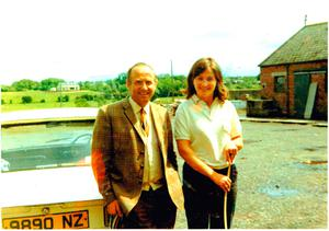 Jenny Bristow and Dad, James