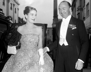 John Profumo, then Minister of State for Foreign Affairs, and his wife, former actress Valerie Hobson