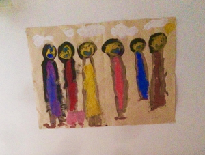 A picture by Alex Kane's daughter Lilah-Liberty which is in his man cave