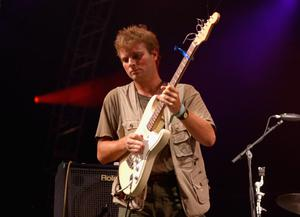 Mac DeMarco on stage in Los Angeles