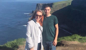 Kitty O'Hare and Cillian Carville on holiday