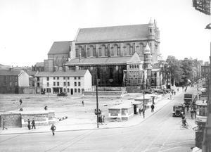Bleak picture: St Anne's Cathedral just after the Blitz