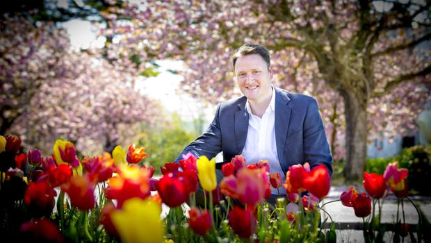 Broadcaster David Maxwell has a passion for gardening