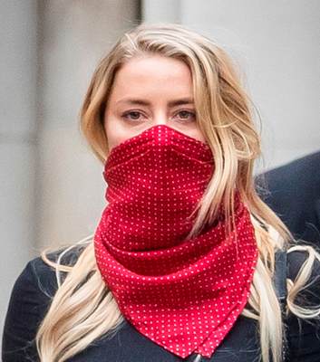 Amber Heard at the High Court in London