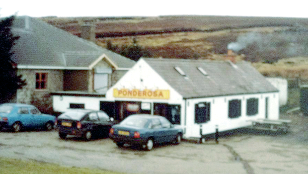 Saloon bar: the original Ponderosa on the main Belfast-Londonderry road, named after the watering hole in cult TV show Bonanza