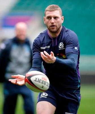 Playing safe: Finn Russell was withdrawn from a Six Nations game last month after receiving a head injury the week before