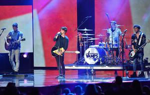 The Vamps performing on stage