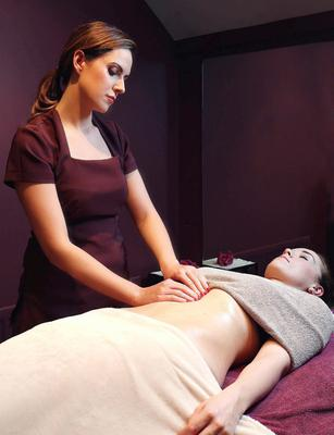 Soothing treatment: Judith Mulgrew, a beauty therapist at Skin Medi Spa