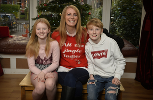Happy families: top, Sonia Butterworth with kids Liam and Kate at their Belfast home