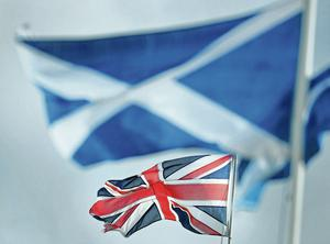 On the fence: the referendum on independence has been left to the Scots by the Queen