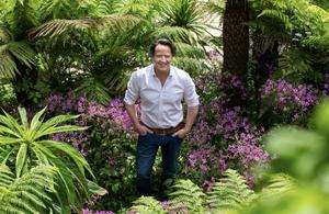 Diarmuid in his garden at home in Bray, Co Wicklow