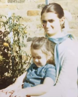 Louise Kennedy as a young girl with her mother