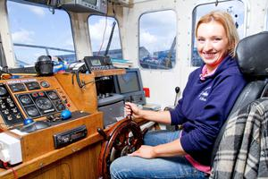 On board: Jean Morgan has been involved in fishing for her whole life