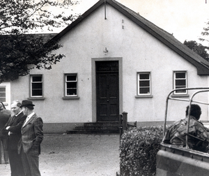 Tullyvallen Orange Hall in 1975 where the attack took place