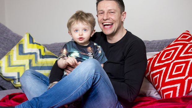 Dream job: DJ Stephen Clements with his son Robbie