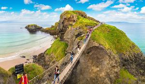 The spectacular Carrick-a-Rede rope bridge in Co Antrim