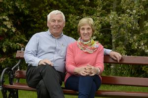 John McLernon at home in Ballymoney with wife Jennifer