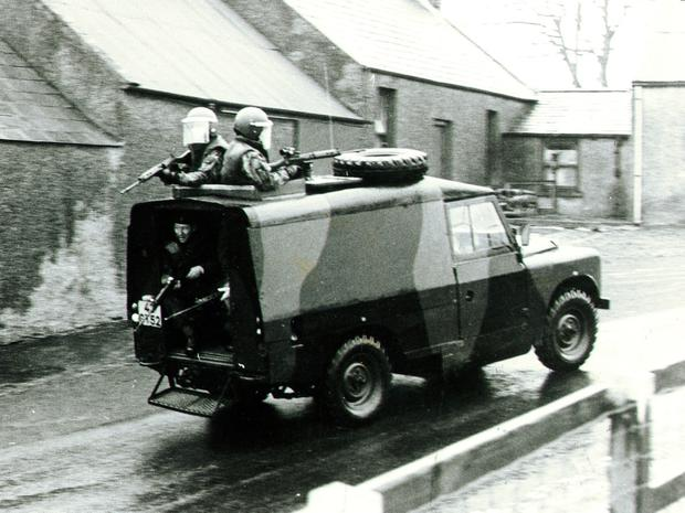 A patrol similar to the one Edward was in when he was shot