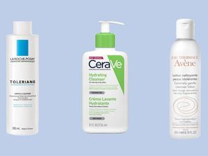 La Roche Posay's Toleriane Dermo Cleanser, £12.50, Look Fantastic; Cerave's Hydrating Cleanser, £9.50, Look Fantastic; Avène Extremely Gentle Cleanser, £10.49, Superdrug