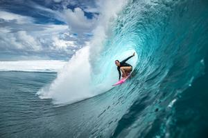 All-action: Carissa Moore, a multiple world champion surfer