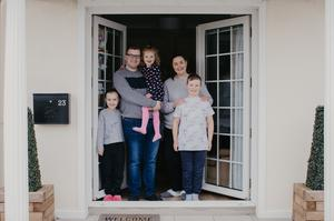 Gordon and Rhiannon Woolsey with children Hannah, Jessica and Ben