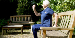 Keeping fit: Mary Peters in her exercise video
