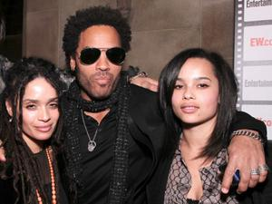 Zoe Kravitz with her parents