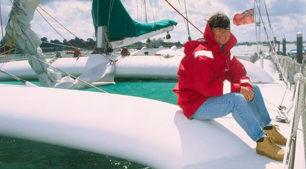 Sail power: Tracy Edwards during Cowes Week in 199