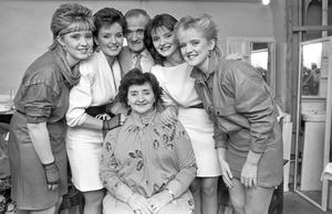 The Nolan sisters with their mother Maureen and father Tommy