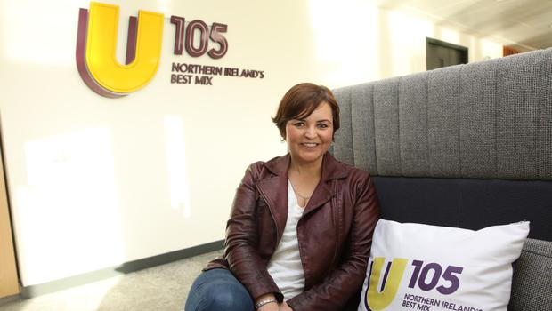 Radio waves: Denise Watson at the U105 studios in Clarendon Dock