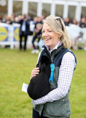 Karen Patterson holds one of the finalists in the inaugral Champion of Champions. Pictured at Balmoral Show.
