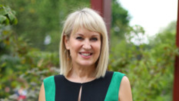 Staying positive: Nicki Chapman has a busy schedule following her surgery