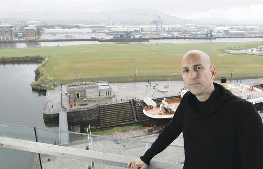 Bird's-eye view: Cuban-American artist Jorge Rodriguez-Gerada is creating a special piece for this year's Ulster Bank Festival at Queen's