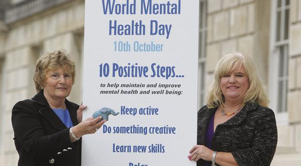 Reaching out: Mavis Rosborough (left) nursed others suffering from mental illness