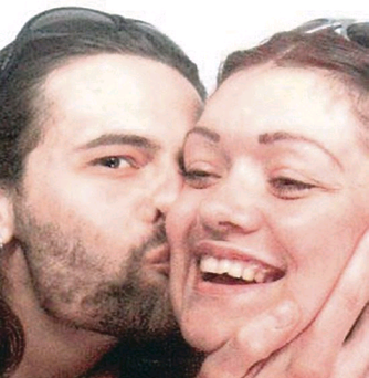 Good times: David and Tracey were together for 15 years until her death at the age of 47