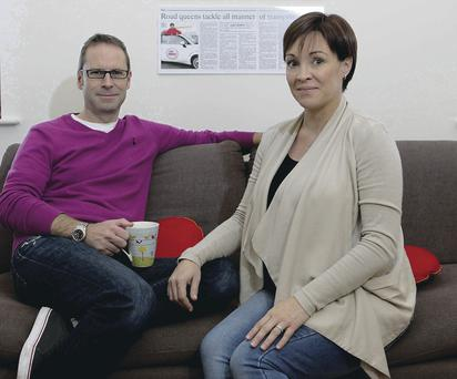 Parents-to-be: Alison and Andrew Allen still can't quite believe their good news
