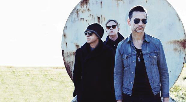 Depeche Mode (from left) Martin Gore, Andrew Fletcher and Dave Gahan