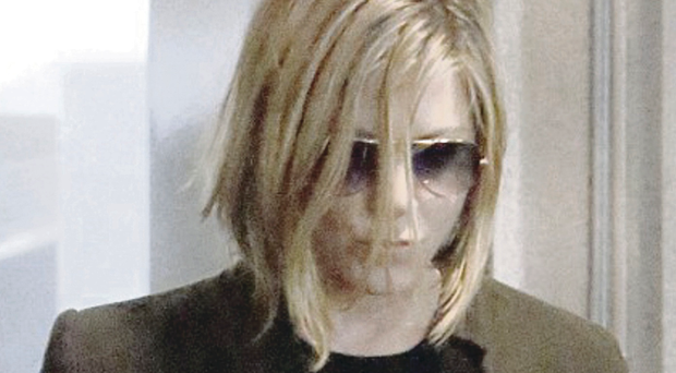 Fringe benefits? Jennifer Aniston with her new bob