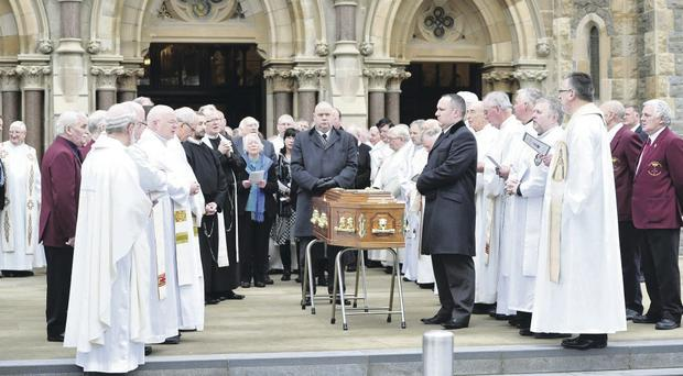 The mass for Fr Alec Reid at Clonard Monastery in west Belfast this week