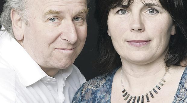 Composer Shaun Davey and wife Rita Connolly