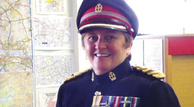 Highly decorated: Major Jenny Jackson with her Army medals