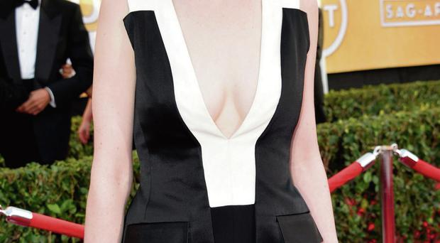 Fashion boobs: Michelle Dockery likes to wear revealing dresses