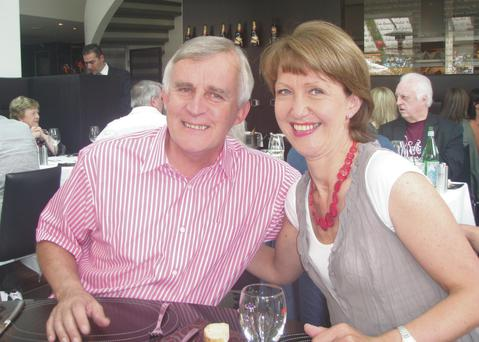 Family woman: Claire with her husband Garry