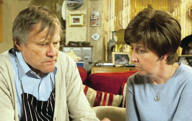 Hayley Cropper and on-screen husband Roy