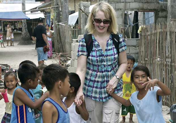 Rose Caldwell with children from Danao Island